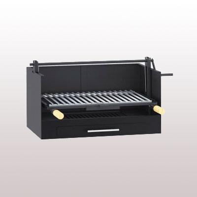 Barbacoa sobremesa carbón y leña bv20